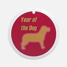 Chinese Year of the Dog Ornament (Round)