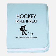 TOP Ice Hockey Slogan baby blanket