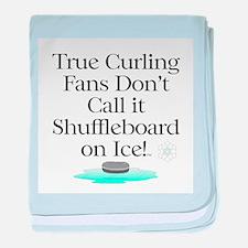 Curling Slogan baby blanket