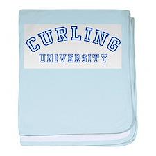 Curling University Infant Blanket