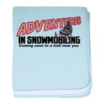 Adventures In Snowmobiling Infant Blanket