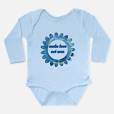 Make Love Not War - Long Sleeve Infant Bodysuit