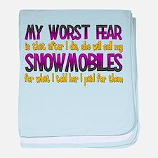 Cheap Snowmobiles Infant Blanket