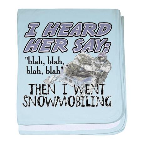 Blah Blah Blah Snowmobile Baby Blanket By Sledderwear