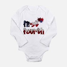 First Fourth - Long Sleeve Infant Bodysuit