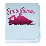 Snowilicious Snowmobile Infant Blanket