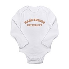 Hard Knocks University Long Sleeve Infant Bodysuit