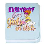 Girls on Sleds Infant Blanket