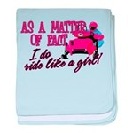 Ride Like a Girl - Snowmobile baby blanket