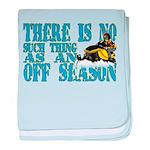 No Off Season Snowmobiling baby blanket