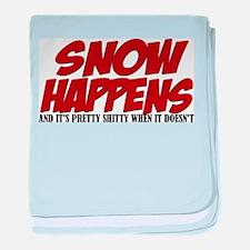 SNOW HAPPENS Infant Blanket