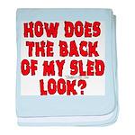 Back of my Sled Infant Blanket