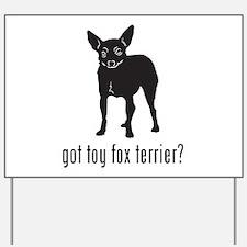 Toy Fox Terrier Yard Sign