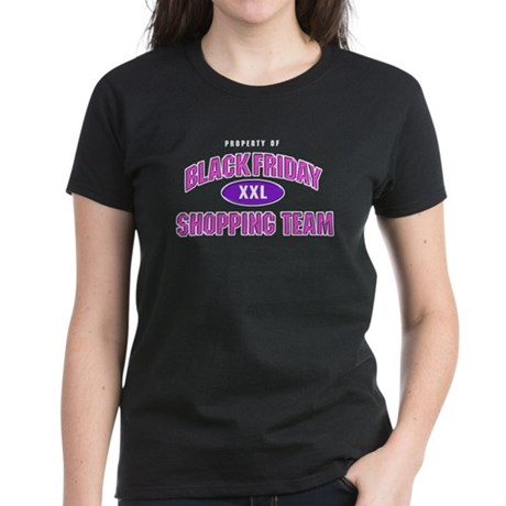 Black Friday Shopping Team Women's Dark T-Shirt