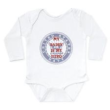 Daddy Hero Red, White & Blue Long Sleeve Infant Bo