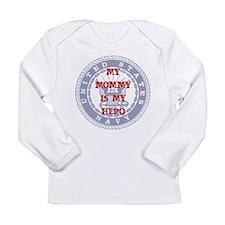 Mommy Hero Red, White & Blue Long Sleeve Infant T-