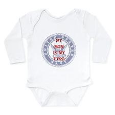 Mom Hero Red, White & Blue Long Sleeve Infant Body
