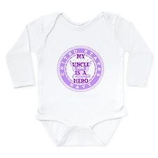 Purple Long Sleeve Infant Bodysuit