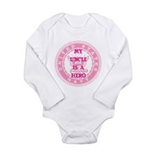 Pink Long Sleeve Infant Bodysuit