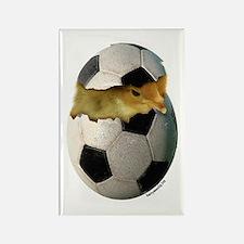Soccer Chick Rectangle Magnet (10 pack)