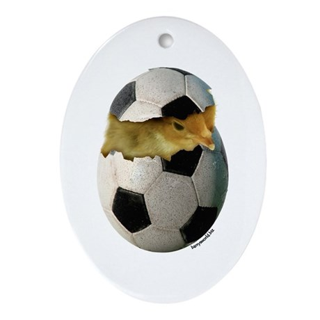 Soccer Chick Ornament (Oval)