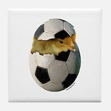 Soccer Chick Tile Coaster