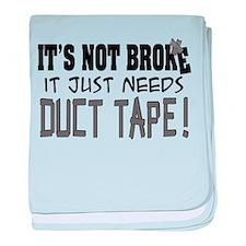 Not Broke - Duct Tape Infant Blanket