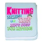 Knitting Kitten Infant Blanket
