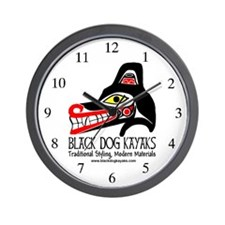 Black Dog Kayak Wall Clock