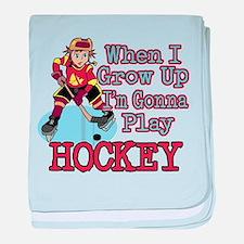 When I Grow Up Hockey Infant Blanket