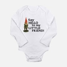 Funny Gnome Long Sleeve Infant Bodysuit