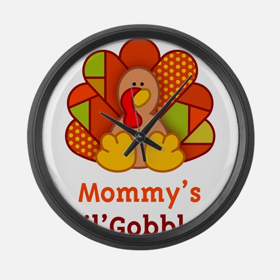 Mommy's Lil' Gobbler Large Wall Clock
