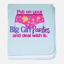 Big Girl Panties & Deal With It baby blanket