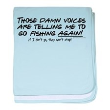 Listen to the fishing voices baby blanket