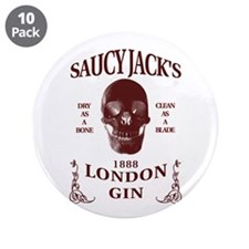 "Saucy Jack's London Gin 3.5"" Button (10 pack)"