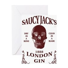 Saucy Jack's London Gin Greeting Card