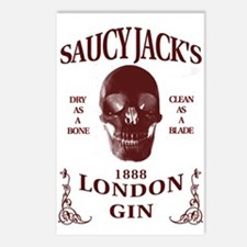 Saucy Jack's London Gin Postcards (Package of 8)