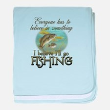 Believe in Fishing Infant Blanket