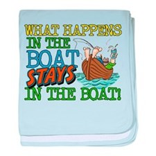 STAYS IN THE BOAT Infant Blanket