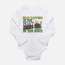 STAYS IN THE BOAT Long Sleeve Infant Bodysuit