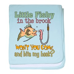 Little Fishy in the Brook Infant Blanket