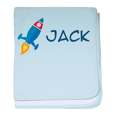 Jack Rocket Ship Infant Blanket