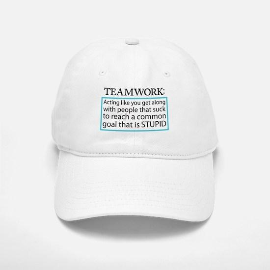 Teamwork Baseball Baseball Cap