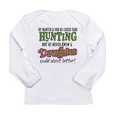 Daughters Shoot Better Long Sleeve Infant T-Shirt