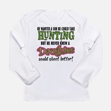 Daughters Shoot Better Long Sleeve Infant T-Shirt
