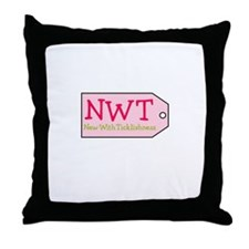 New With Ticklishness Throw Pillow