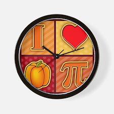 I Love Pumpkin Pie Wall Clock