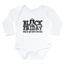 Black Friday Shop or G Long Sleeve Infant Bodysuit