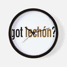 got lechon? Wall Clock