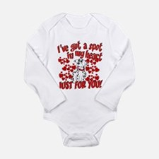 Dalmatian Valentine Long Sleeve Infant Bodysuit